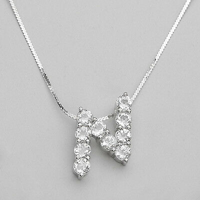 """Necklace made in sterling silver 925 with initial """"N"""" PENDANT."""