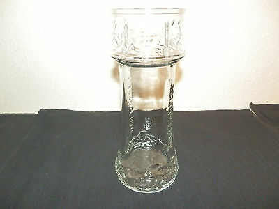 Vintage Collectible Red Lobster Lighthouse Drinking Glass Straw Holder Vase