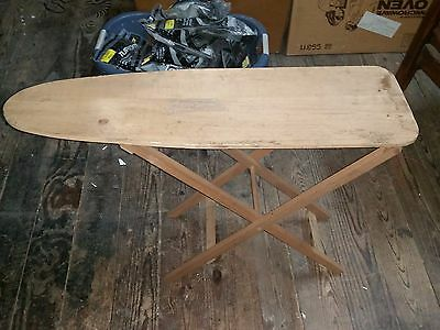 """Vintage maybe Antique 35"""" Long Solid Wood Travel or Kids Toy Ironing Board"""