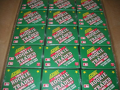 Lot of 15 1991 Score Rookie & Traded Factory Sealed Baseball Sets Complete Box