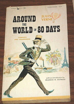 JULES VERNE Around The World In 80 Days AIRMONT VINTAGE 1963 CLASSIC C124 Eighty