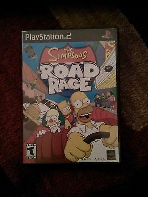 The Simpsons Road Rage COMPLETE! PS2 FREE SHIPPING! Playstation 2