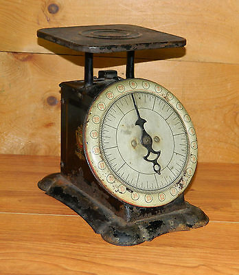 Antique PELOUZE Family Scale 24 lb. Capacity c 1900 Red Numbers Kitchen