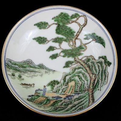 Vintage TFF Japanese Porcelain Ware Dish Plate Bowl Decorated in Hong Kong