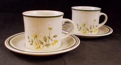Royal Doulton WILL O'THE WISP 2 Cup&Saucer Sets Double Green Line LS1023 MINT