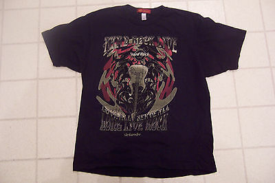 Hard Rock Cafe Live T-Shirt Orlando Size L Black Pre-Shrunk 100% Cotton