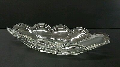 Original Krys-Tol Chippendale Glassware Star Burst Celery Glass Dish Vintage