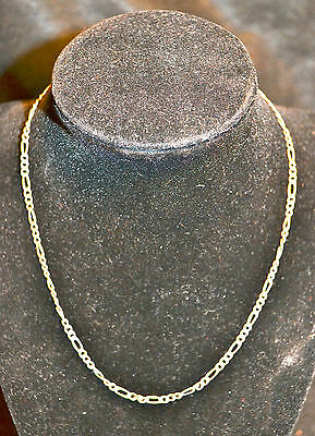 """16"""" Sterling Silver 925 Italy Parma Export Figaro Chain 3mm 1/8"""""""