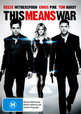 This Means War NEW DVD Reese Witherspoon Tom Hardy Chris Pine REGION 4 AUSTRALIA