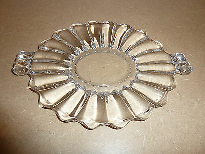 HEISEY Chrystolite Small Serving Plate Relish Tray Mint Condition