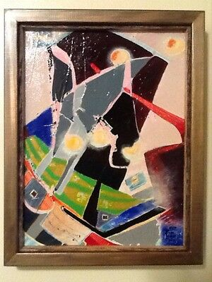BEAUTIFUL AND VIBRANT ORIGINA ABSTRACT OIL PAINTING SIGNED BY ARTIST!