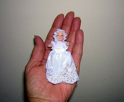 """1:12  Porcelain Baby Doll Scale 1"""" X 1' Dollhouse People Size 2 3/4"""" Tall"""