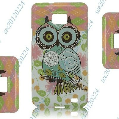 Color OWL Soft TPU Silicone Case Cover Back Skin For Samsung Galaxy S 2 II i9100