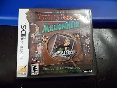 Mystery Case Files: MillionHeir  (Nintendo DS, 2008) GAME COMPLETE NDS WORKS