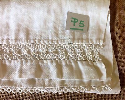 =LOT#P5 VINTAGE TATTED TABLE LINENS DRESSER SCARF VICTORIAN SHABBY COUNTRY DECOR