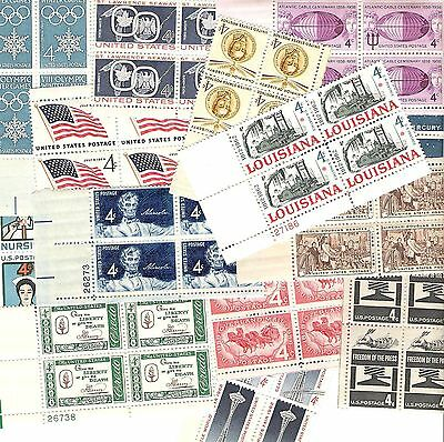 Mint US 4 cent PLATE BLOCK LOT of FIFTY Different MNH