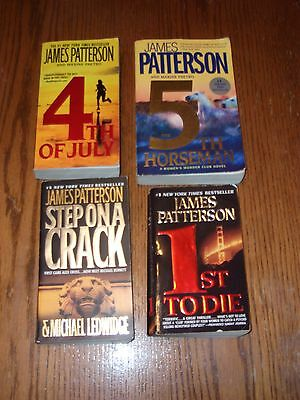 Group Lot 4 James Patterson Book Lot Pb Step on A Crack 1st to Die 4th of July