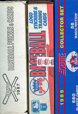 1987 Donruss 1989 Score 1990 Fleer Baseball Card Complete Box set Collection FCT