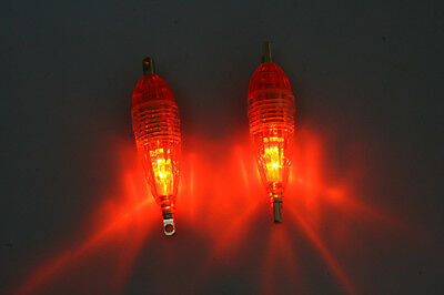 2pcs LED Flashing Deep Drop Underwater Fishing  Light Mini  8.5g/6cm