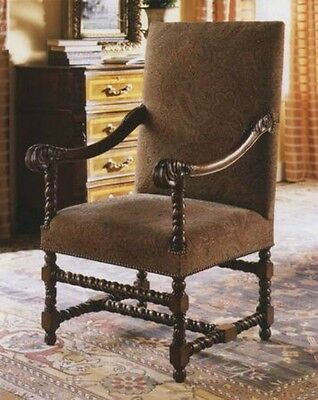 Walnut Chair William and Mary Armchair Antique Reproduction NEW