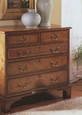 Walnut English Chest of Drawers Antique Reproduction H79 x W83 x D43 cm 1030-46