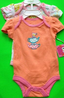 SET OF 2 OUTFITS FOR BABY GIRL 2 SIZES AVAIL (0-3M, 3-6M) NWT! 'HAPPI BY DENA'