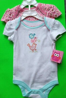 SET OF 2 ONE-PC  FOR BABY GIRL TWO SIZES AVAIL 3-6 M, 6-9 M, 'HAPPI BY DENA' NWT