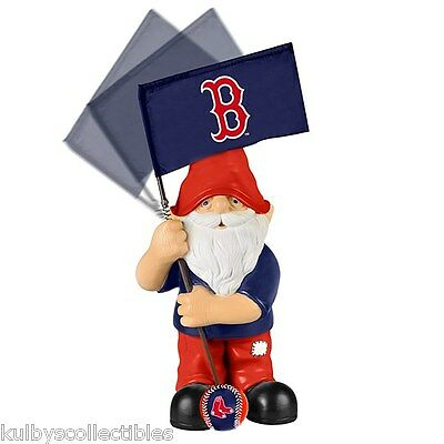 BOSTON RED SOX Limited Edition 2014 Springy Flag Garden Gnome Figurine New* MLB