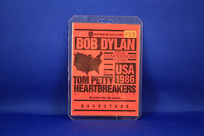 Bob Dylan and Tom Petty Backstage Pass True Confessions Tour USED RARE  Numbered