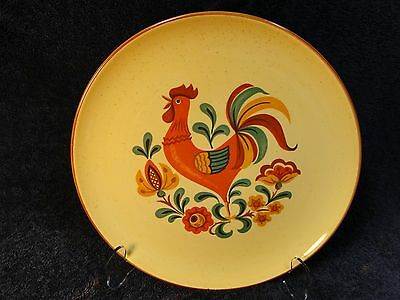 Taylor Smith Taylor Reveille Rooster Dinner Plate Yellow/Red Trim - Two - EUC