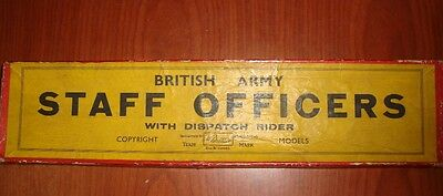 Britains British Army Staff Officers (active service) set No 1907 early box 1940