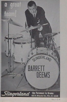 1968 Barrett Deems+Slingerland-a great team! print Ad