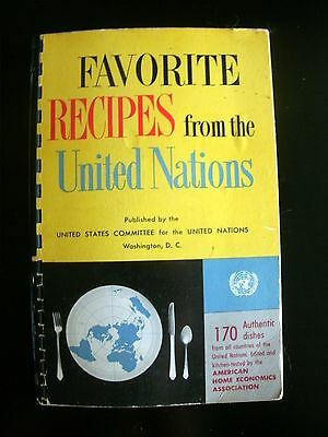 Favorite Recipes from the United Nations 1956 Vintage Cookbook