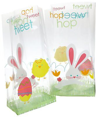 Wilton 20ct Hop N' Tweet Easter Bummy Party Candy Treat Sweet Gift Bags & Ties