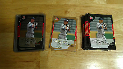 (40) 2005 BOWMAN CHROME/DRAFT/GOLD MIKE MORSE ROOKIE CARDS LOT OF 40