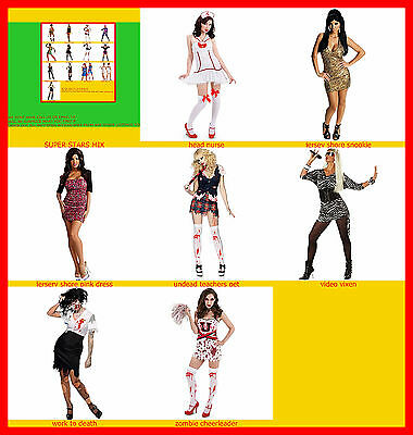 womans costumes   Zombies teacher Cheer Squad undead Adult Costume new