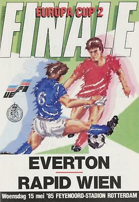 * 1985 CUP WINNERS CUP FINAL - EVERTON v RAPID VIENNA *