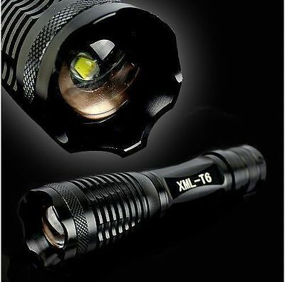 UltraFire 2000LM Zoomable XM-L T6 LED 18650/3*AAA Flashlight Torch Light 5-Mode