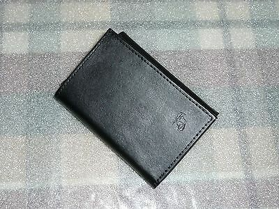 WALLET  Mens Wallet Tri-fold  American Tourister   Black Leather   Black Trifold