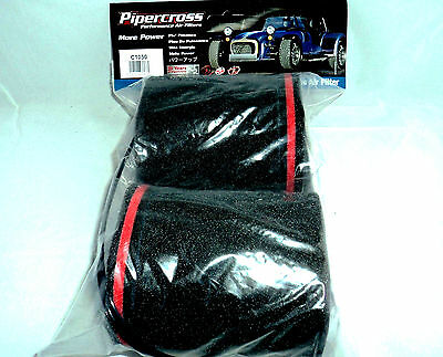 Pipercross C1050 Trumpet sock Rampipes Carburettor Air Filter [pair] IN STOCK!