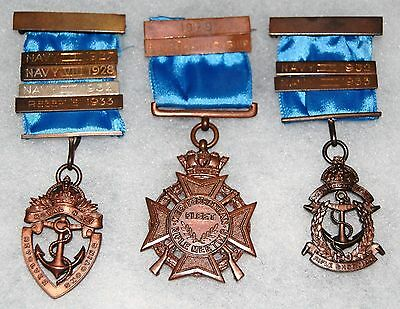 SHOOTING MEDALS - ROYAL NAVY - MEDITERRANEAN FLEET - VERY NICE GROUP -1927-33