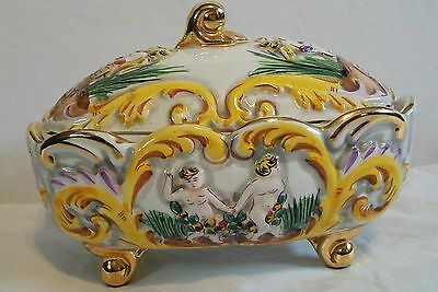 ELPA Alcobaca Made in Portugal Footed Porcelain Bowl with Lid - Numbered