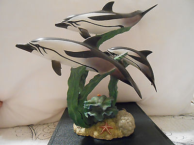 Danbury Mint Follow The Leader Dolphin Statue Sculpture Figure by Mike Atkinson
