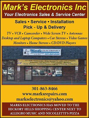 DJ CD MUSICAL INSTRUMENT REPAIR SERVICE SOUTHERN MARYLAND 301-863-8466