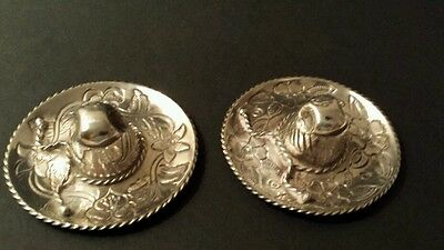 PAIR VINTAGE 1930'S STERLING SILVER MEXICAN HATS BY SANBORN