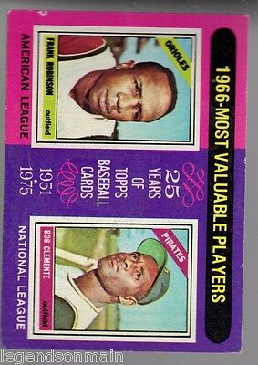 1966 M.V.P,S Robinson Clemente 1975 Topps  Card #204-@