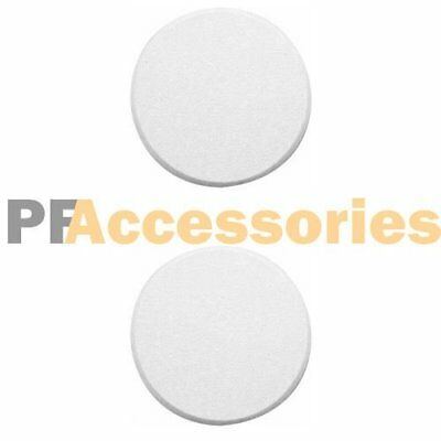 "Pack of 2 Door Knob Self Adhesive Protector 3"" Drywall Wall Shield Round White"