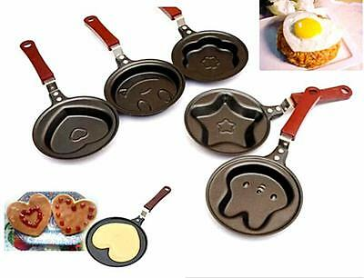 YO CA New Outdoor Kitchen Non-stick Stainless Steel Frying Pan Cartoon Egg Pot