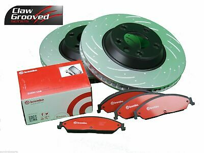Slotted Pair Front Disc Brake Rotors & Brembo Pads Vt Vx Vy Vz Commodore Euro