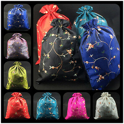 Wholesale40pcs Chinese Handmade Embroider Silk Cloth&Shoe Bags Pouches Purse Bag